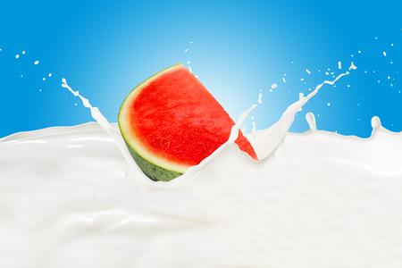 Watermelon With Milk Splash