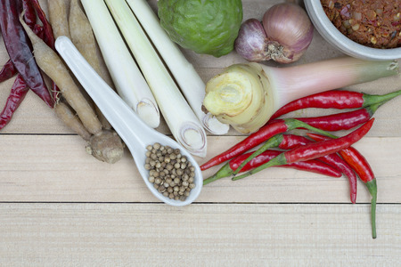ooking: Cooking ingredients,thai cooking ingredients,spicy Stock Photo