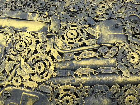 gold color: mechanical background gold color Stock Photo