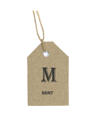 tag: herb tag,paper,tag,vintage tag with clipping path