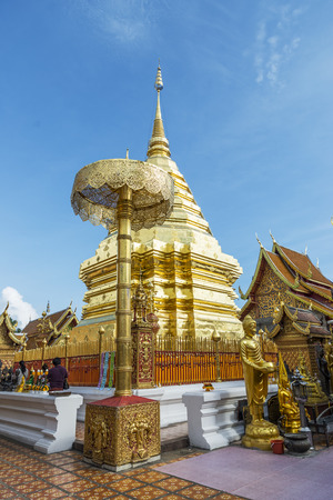thai people: CHIANG MAI, THAILAND - NOVEMBER :Thai people are praying for a religious ceremony in thai temple during touring day in Chiang Mai, Thailand on November , 2015