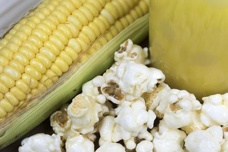 cornflour: corn and its products such as pop corn , corn juice