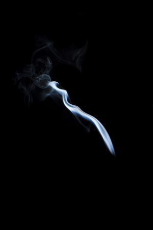 black smoke: smoke on black background