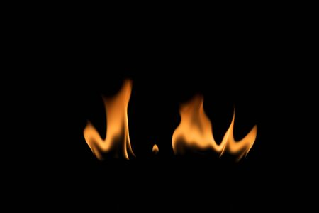 flametongue: Fire on black background