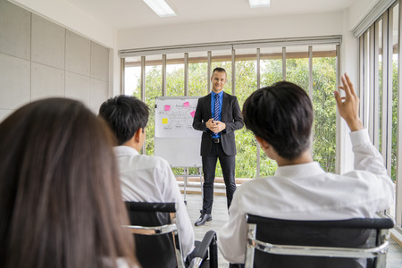 entrepreneurs or  manager teach and meeting to employee and discussion for business. Archivio Fotografico - 108451302