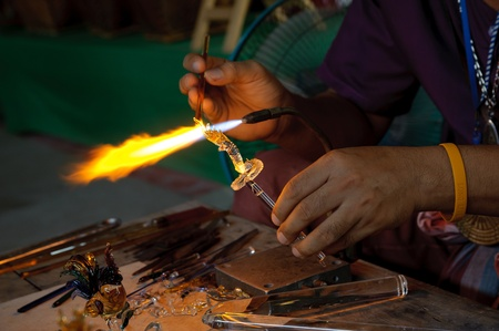 artistic glassblowing photo