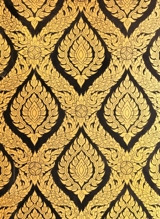 flower pattern in traditional Thai style art painting Stock Photo