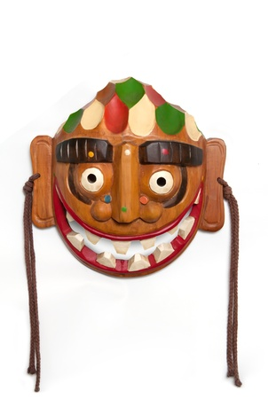 traditional wooden mask frontal Stock Photo - 15016183
