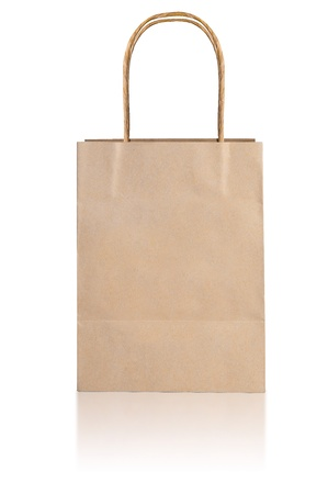 Paper bag on white background photo