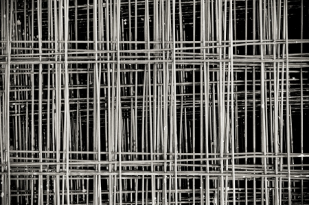 Tied Rebar Reinforcing Steel Panels  photo
