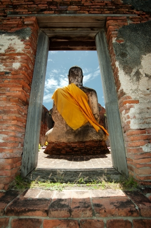 buddha in ayutthaya thailand photo