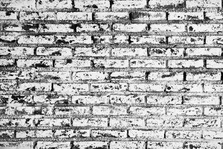 Grunge white and black brick wall background  Stock Photo