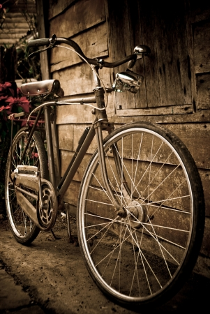 Old bike against  Stock Photo