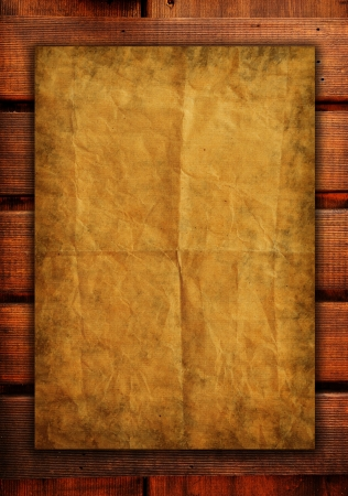 old papers on wood textures background  photo