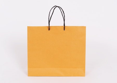 Paper bags isolated on white background Stock Photo