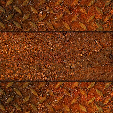 Rusted Metal with Diamond Pattern photo