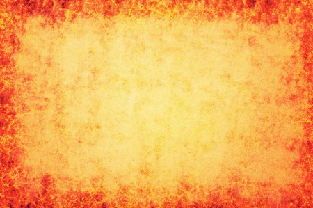 burlap: orange background with burlap texture and red vignette