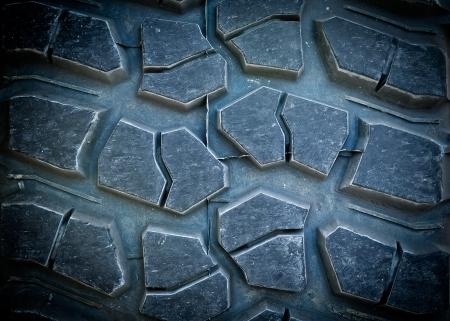closeup of a tire tread,weel