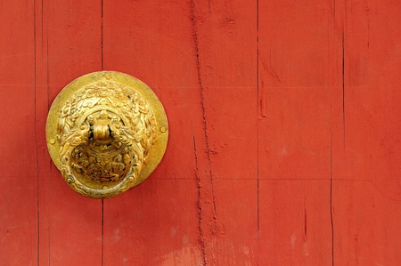 Door Knocker Old chinese door  photo