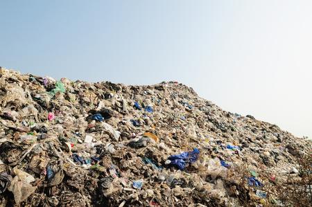 rubbish dump of landfill garbage Stock Photo