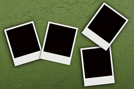 Four Photo on green mulberry paper Stock Photo