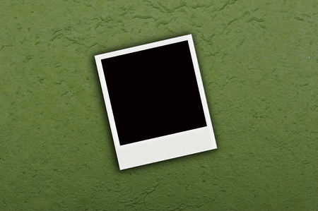 Photo on green mulberry paper