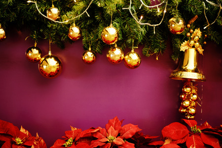 Cristmas decorations bell Stock Photo
