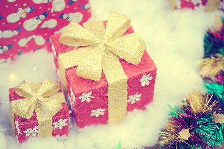 Cristmas gifts vintage stlye Stock Photo