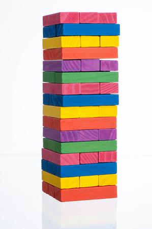 pull toy: Los bloques de colores de madera