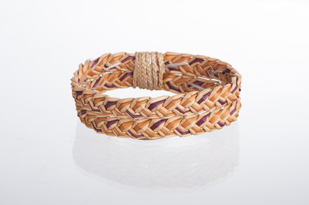 wristband made from woven straw