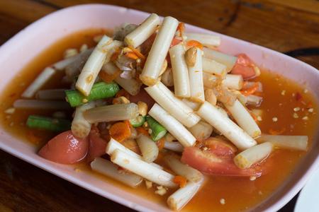 Som Tum Thai Isan Food, Thai papaya salad with Lotus