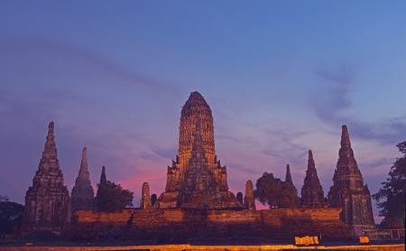 Wat Chaiwatthanaram is ancient buddhist temple.Historical Park in Phra Nakhon Si Ayutthaya Province, Thailand Stock Photo