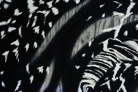 texture of print fabric striped panther for background photo