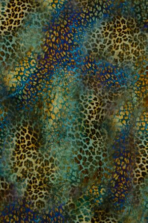 texture of print fabric stripes leopard for background photo