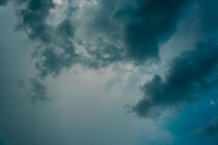 overcast: Overcast sky with dark clouds