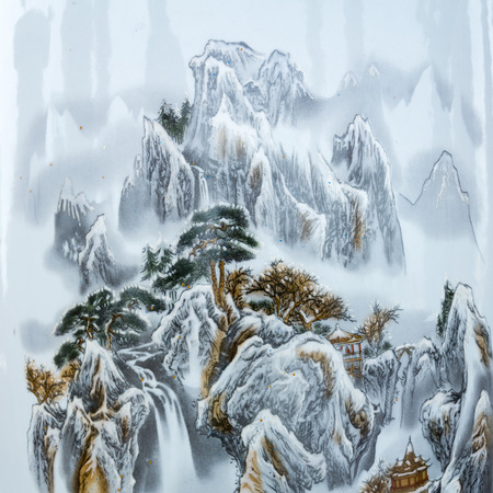 china art: Chinese paintings of mountains
