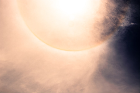 현상: fantastic beautiful sun halo phenomenon