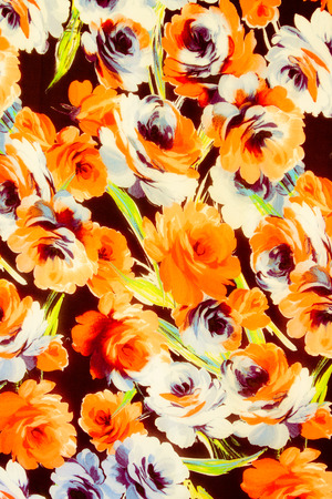 rosas naranjas: Textura rosas naranjas tela estilo vintage