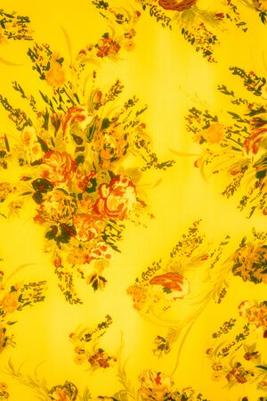 sateen: texture fabric of Bouquet flower vintage Style Stock Photo