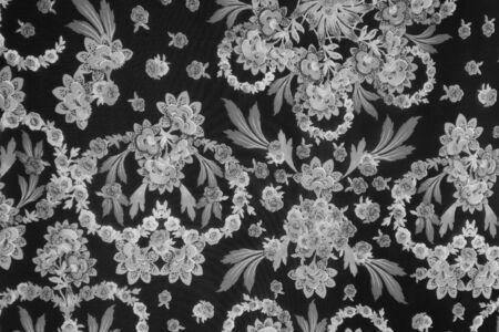 panicle: texture fabric Chic floral black and white Style