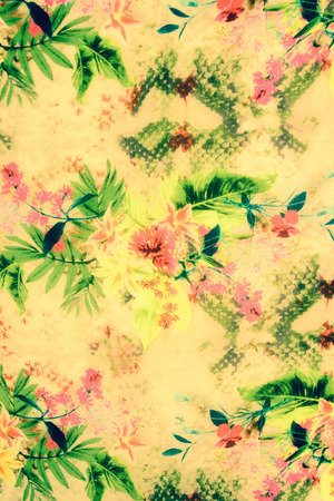 fabrick: Romantic vintage flower background