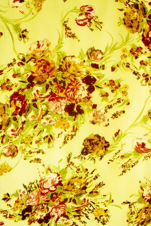 stylishness: texture fabric of Bouquet flower vintage Style Stock Photo