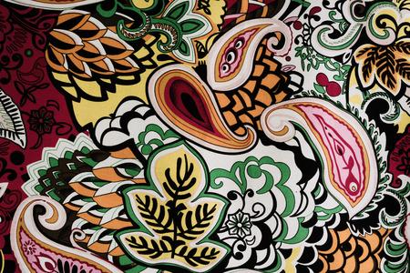 paisley: colorful paisley background Stock Photo