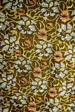 vintage background pattern: textured fabric  of flower vintage style