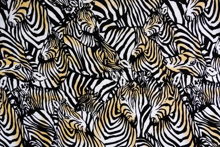 zebra stripes: Texture fabric of Many zebra herd for background
