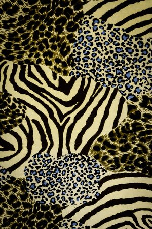 color conceal: texture fabric of tiger prints and decorative roses