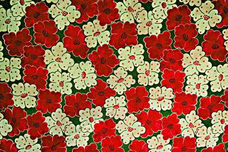 fleurs romantique: Fabric texture de fleurs romantiques pour le fond Banque d'images