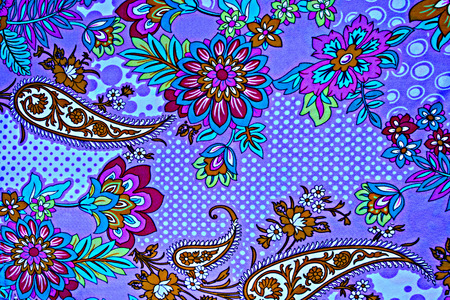 mottled skin: texture fabric of retro flower and paisley