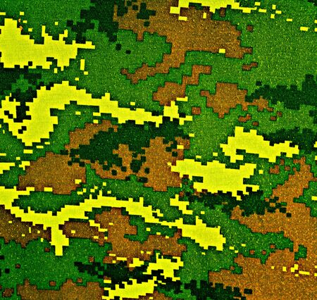 tiger stripe: Thai police green tiger stripe camouflage fabric texture background Stock Photo