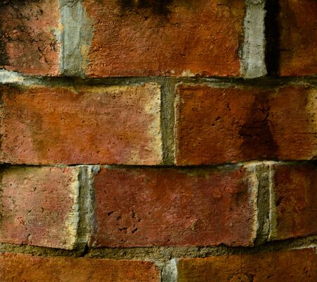 ground: Ground red brick wall